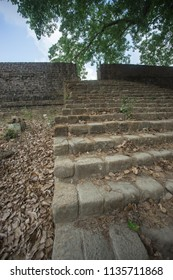 Stairs goes to ruin of Arakan palace kingdom, Mrauk u Myanmar