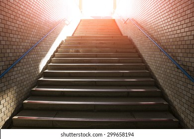 stairs going up to the light