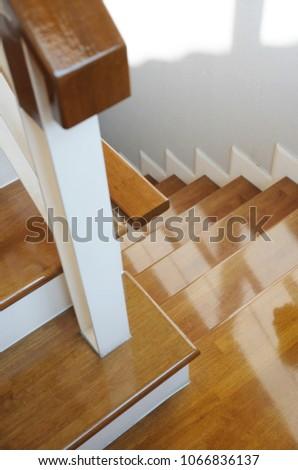Stairs In House, Wood Stair Treads, Wood Steps, Wood Landing, Wood Handrail