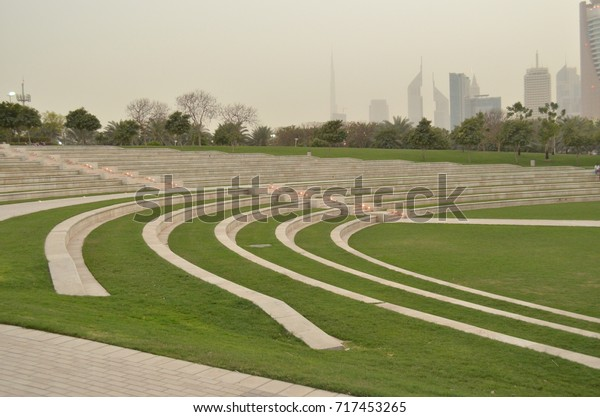 Stairs at Jabeel  Park Dubai, United Arab Emirates