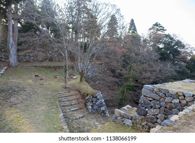 Stairs leading up to remains of Takatori Castle