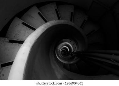 stairs of lighthouse in Portopalo
