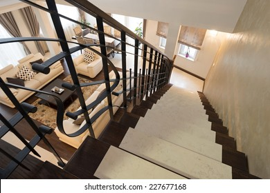 Stairs in modern luxury apartment