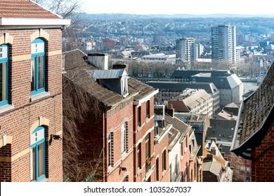 Stairs of Mount Bueren in Liege city, Belgium