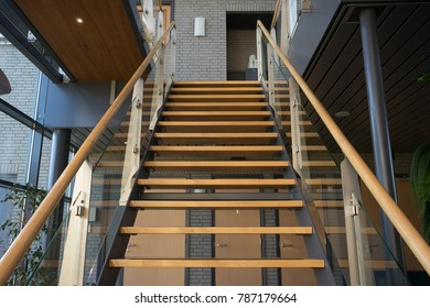 stairs in a office abstract and new building