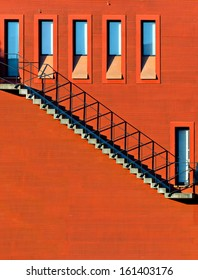 Stairs on the Red Wall