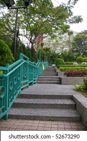 Stairs in a park