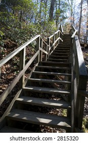 Stairs in Raven Rock State Park, NC