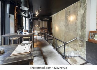 stairs in restaurant interior