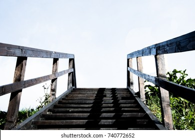 stairs up to sky.