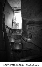 Stairs of snail in a cathedral