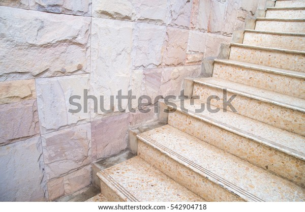 Stairs and stone walls