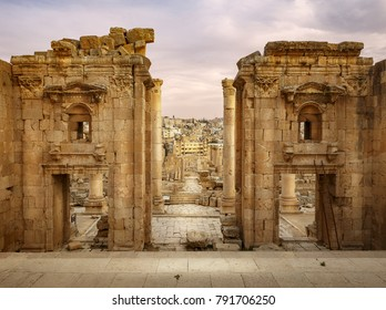 Stairs to Temple of Artemis in Jerash