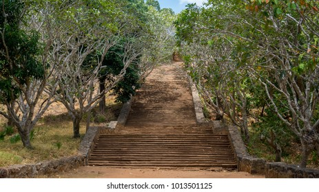 Stairs to temple Mihintale Sri Lanka