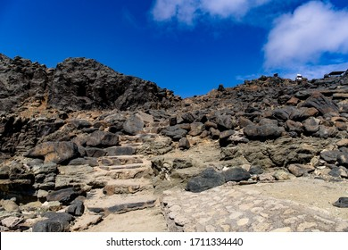 The stairs that lead to back to the trail at the Natural Pool in Aruba
