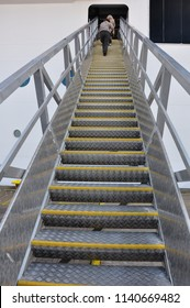 Stairs Up, Ladder To The Ship Or Plane