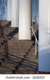 stairs,shadows,modern building
