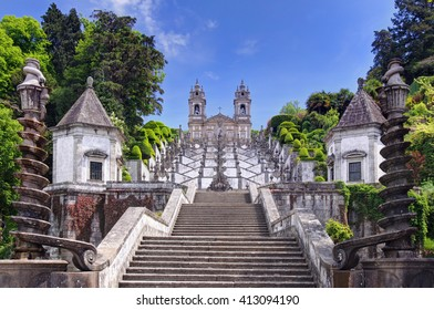 Stairway to the church of Bom Jesus do Monte in Braga, Portugal