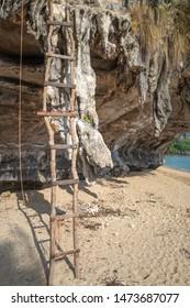 Stairway for the cliffhangers in Krabi