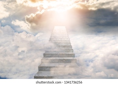 Stairway to heaven. Concept Religion background