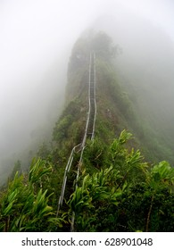 The Stairway to Heaven, also known as the Haiku Stairs, in Hawaii.