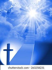 Stairway to heaven with light