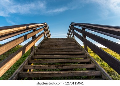 Stairway to heaven on Etowah Indian Mounds Historic Site in Cartersville Georgia
