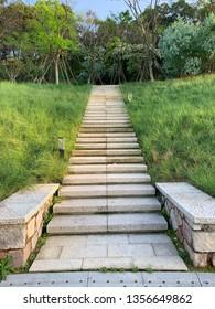 Stairway to jungle, Niugangshan Park, Fuzhou,Fujian,China