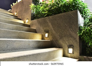 stairway and light