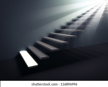 Stairway to the light. First step