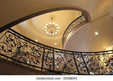 Stairway Looking Upwards