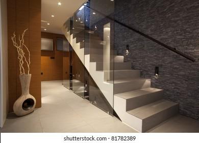 Stairway in modern apartment