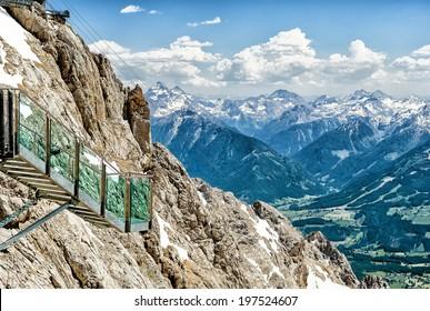 Stairway to Nothingness in Dachstein Glacier in Austria