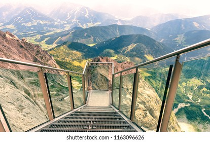 Stairway to Nothingness on  Dachstein Mountian