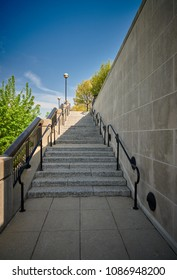 Stairway Outside Leading Up