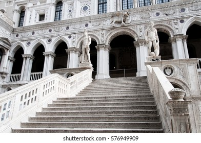 Giant's Stairway of the Doge's Palace, Venice, Italy, Europe