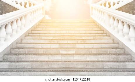 Stairway up, heaven, sunlight