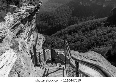 Stairway to Wentworth Falls, Blue Mountains, NSW, Australia