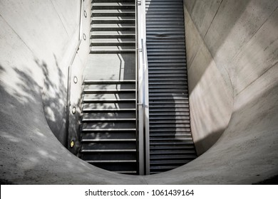 Stairways abstract detail in the metro of Berlin Germany