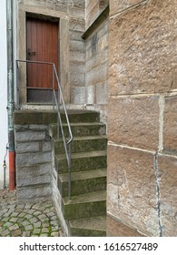 Stairways to bell tower from church