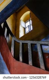 Stairways inside the Amasra prison