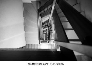 Stairwell in a block of flats in Switzerland