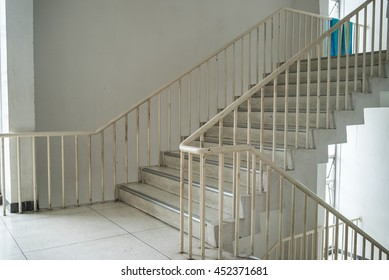 stairwell fire escape in a modern building in hospital THAILAND