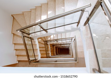 Stairwell: a look down from a height