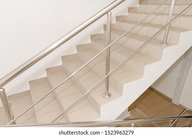 Stairwell in a modern building. Empty stairwell in a quiet building. steps on the stairs