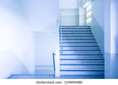 stairwell in a modern building.selective focus.