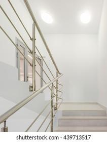 Stairwell in modern office