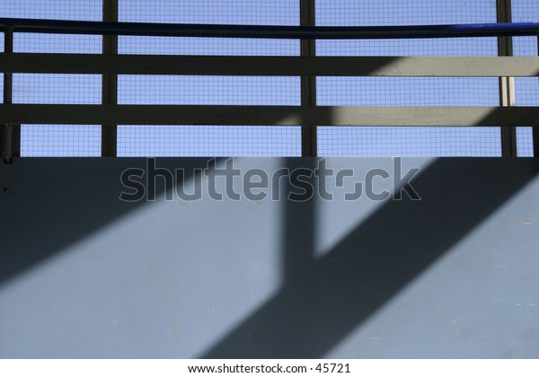 Stairwell shadow