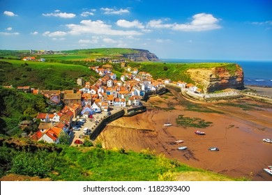 Staithes is a seaside village in the Scarborough Borough of North Yorkshire, England.
