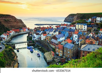 Staithes Sunrise, Yorkshire, UK.